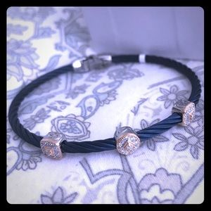 Blueberry & Diamonds in 18kt Gold Alor Bracelet